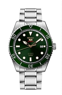 ▶$1 Shop Coupon◀  Seiko Series 5 Automatic Green Dial Mens Watch SRPB93