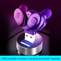 TWS Wireless Stereo Bluetooth V5.0 Earphone with USB Charger