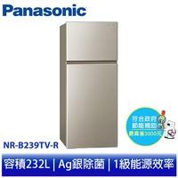 【國際牌】Panasonic 232公升變頻無邊框雙門電冰箱 NR-B239TV-R亮彩金