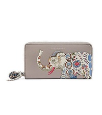 Tory Burch Elephant Zip Continental Leather Women s Wallet