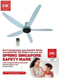 KDK DC Motor Ceiling Fan T60AW Silver * FREE $30 NTUC VOUCHER