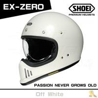 任我行騎士部品 SHOEI EX ZERO 山車帽 內鏡片 復古 經典 EX-ZERO 米白