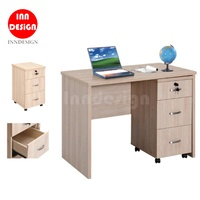 Sapphire Study Table / Study Desk with Mobile Pedestal Cabinet (Free Installation & Delivery)