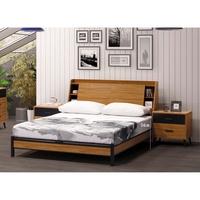 【傢俱專家】B20021-2肯詩特淺柚木色6尺雙人床架(不含床墊)/床架型/全新品哦~~【台北都會區滿5000元免運費】
