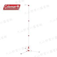 【露營趣】Coleman CM-31266 鋁合金燈架 十段式伸縮燈架 掛燈架 吊燈柱 吊燈架 壓扣式 燈勾