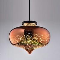 玫瑰金玻璃吊燈(PS14727) / H&D / 日本MODERN DECO