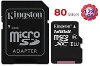 KINGSTON 128GB 128G microSDXC【80MB/s】 microSD micro TF SDXC SD U1 C10 Class10 金士頓 手機記憶卡