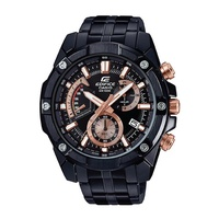Casio Edifice Standard Chronograph Black Ion Plated Stainless Steel Band Watch EFR559DC-1A EFR-559DC-1A