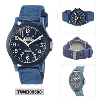 Timex Expedition Acadia Blue Resin Case Nylon Strap Mens TW4B09600