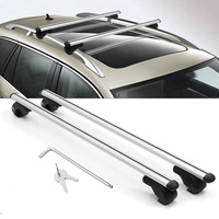 HARDCASTLE 135CM AERO CAR ROOF BARS ALUMINIUM LOCKABLE/LOCKING SILVER CROSS BARS
