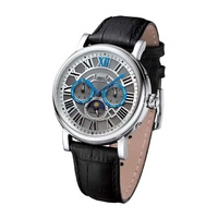 Arbutus AR912SWB Anolog Automatic Black Leather Men Watch