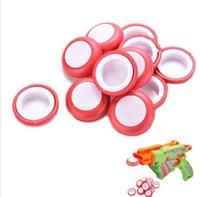 Mini Foam Frisbee Soft Disk Gun Bullets for Nerf Gun toys Red 12 Pcs