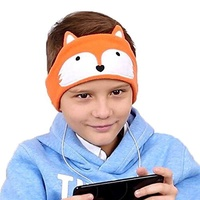 FIRIK Kids Headphones Volume Limited with Easy Adjustable Kids Costume Headband Silky Headphones for Children, Perfect for Travel and Home - Fox , Fox
