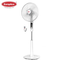 EuropAce 16 inches stand fan with 10 blades - stronger and wider airflow