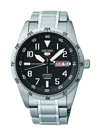 ▶$1 Shop Coupon◀  Seiko 5 Sports Automatic Black Dial Stainless Steel Mens Watch SRP513 by Seiko Wat
