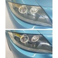 大燈快潔現場施工 BMW 寶馬 Z4 原廠大燈泛黃霧化修復翻新處理 基本單顆施工價2500兩顆3999