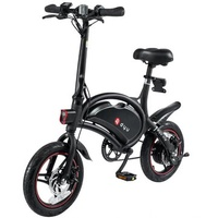 F-wheel DYU D3 250W 36V Folding Electric Bike Aluminum Alloy EU Plug 14 Inch Wheel Tire Max 50KM Mileage Bike