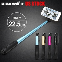 BW-BS1 Mini Extendable Wired Selfie Stick Monopod For Outdoors Ne
