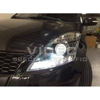 巨城汽車精品 鈴木 SUZUKI SWIFT 10-14 黑框 DRL R8 魚眼 大燈 組 LED