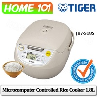 Tiger Microcomputer Controlled Rice Cooker 1.8L JBV-S18S