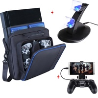 PS4 Accessories Play Station 4 Joystick PS4 Charger Station Phone Clip Normal PS4 Game Console Storage Bag for PlayStation 4