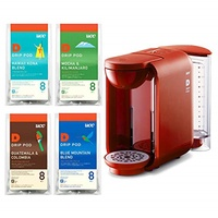 [Set] buying UCC drip pod coffee maker DP2 (R) Red + coffee explore Assorted monthly set 32