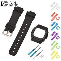 替換卡西歐g-shock黑色手表帶邊框外殼G-5600E GW-M5610 GLX-5600