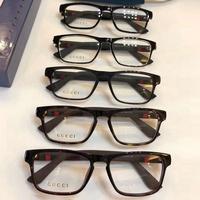 Gucci 方形平光鏡 眼鏡框架 可配近視眼鏡 護目鏡 眼鏡框 眼鏡架 百搭潮流款 精品配件 男女皆可佩戴