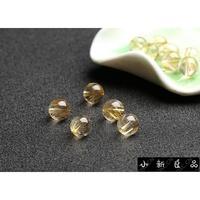 ❤️5A級天然金發晶散珠鈦晶圓珠散珠 DIY飾品配佛108顆配飾手鏈項鏈