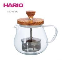 《HARIO》橄欖木濾壓茶壺 TEO-45-OV 450ml