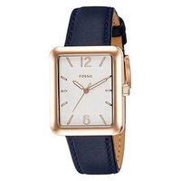 [Fossil] Fossil Women's ES4158 Atwater Three-Hand Navy Leather Watch [From USA] - intl