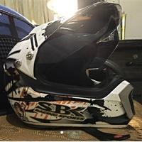 SBk 白色全罩彩繪安全帽 內襯可拆洗 m號