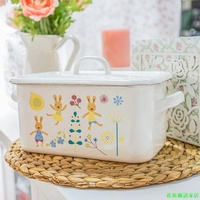 enamel porcelain thickening food bread box snack box biscuit tin toast box