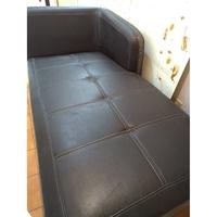 (二手)黑色皮沙發 / L型沙發/ 貴妃椅/ 躺椅