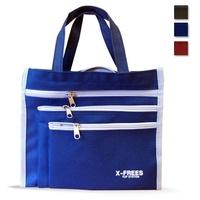 台灣製X-FREES 大容量 三夾層 便當袋 購物袋 手提袋 手提包 環保袋 野餐 露營 萬用 防水 耐用堅固 批發價_HM701 X三拉鍊