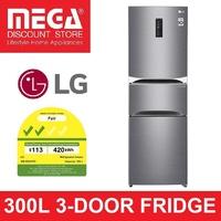 LG GM-B3031PZ 300L 3-DOOR FRIDGE (2 TICKS)