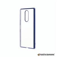 【RASTA BANANA】 Xperia 1 輕量柔韌電鍍保護殼 (紫色款)