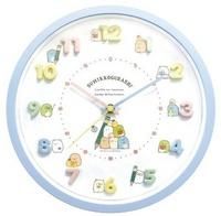 大賀屋 連續秒針 日貨 角落生物 時鐘 藍 鐘 鐘錶 壁鐘 掛鐘 壁掛鐘 角落小夥伴 SAN-X J00015370