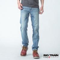 BIG TRAIN 基本款小直筒-男-淺藍