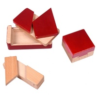 Douyin Celebrity Style Mysterious Box Building Blocks Mysterious Box Small Lu Ban Burr Puzzle Valentine' Gift Small Box Switch