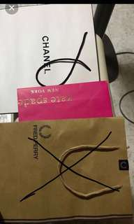 2 for $9 Chanel&Kate Spade paper bag