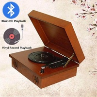 Vinyl CD Record Player bluetooth Wooden Turntable Portable Multi-functional bluetooth Vinyl CD Record Player