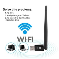 Qianmei 600M Wireless 2.4Ghz & 5G USB Network Card + Bluetooth 4.0 Receiver