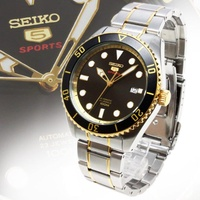 SEIKO錶 精工錶盾牌5號 自動錶.半金水鬼23石機械錶4R35-02D0B SRPB89J1 SRPB94J1
