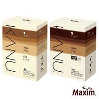 韓國 MAXIM麥心 KANU 孔劉中焙無糖拿鐵系列 原味/雙倍濃縮 (13.5g�30入/盒) 孔劉咖啡 漸層包裝 kanu咖啡