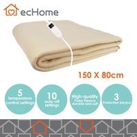ecHome Polar Fleece Heated Electric Blanket 150x80cm 5 Temperature Setting Timer
