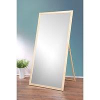 【全館免運】立掛兩用-豪華大型原木立鏡(寬90公分) 掛鏡 全身鏡 自拍鏡 化妝鏡 安全鏡片