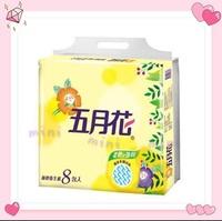 【五月花】花園版抽取式衛生紙100抽*8包*6袋/箱$660免運