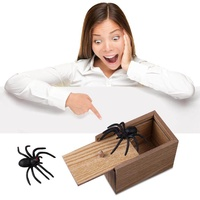 OnLook Scare Surprise Box with Spider Hilarious Scare Box Spider Prank Wooden Scarebox Joke Prank Box April Fools' Day Gag Gift Prank for Boys, Girls, Adults