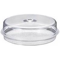 YJ Selected - 無毒壓克力 圓形蛋糕盒 (下托盤/上罩蓋) 托盤 附蓋子
